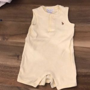 Ralph Lauren sleeveless onesie yellow